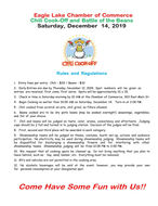 2019 Christmas Chili Cook-off & Battle of the Beans