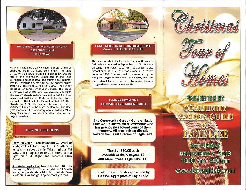 Christmas Tour of Homes Trifold Outside