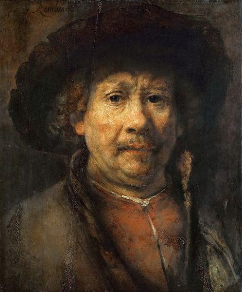 Autoportrait (vers 1655) - Rembrandt, peintre hollandais du XVII è siècle (Baroque)