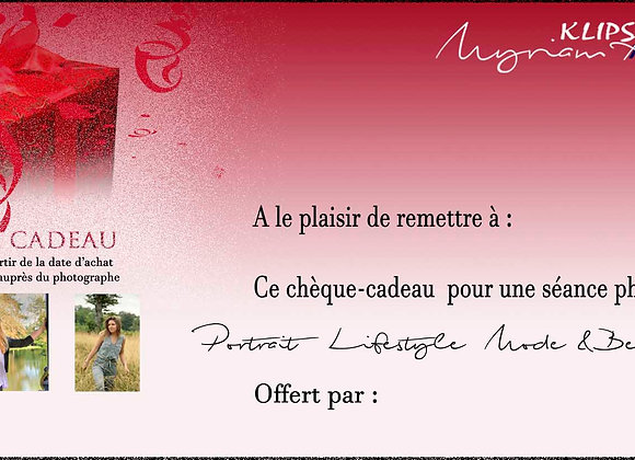 Chèque-cadeau : Séance Solo - Mode/Beauté/Glamour