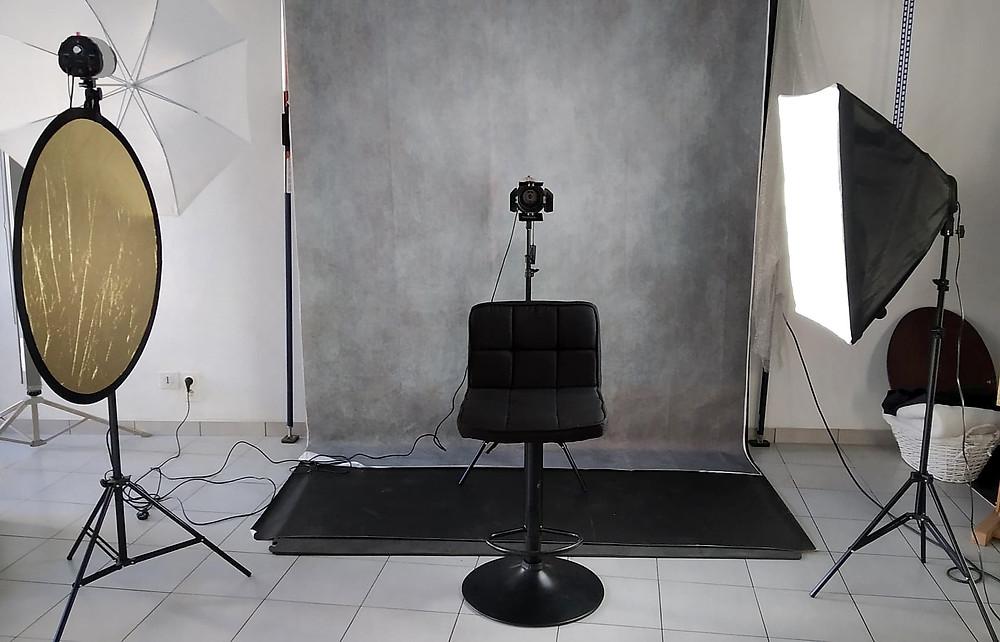 Studio photo © Myriam Albouy (photo prise avec mon smartphone)