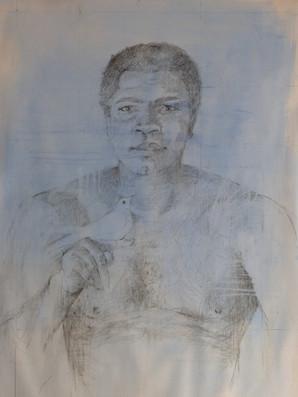 Ali and Dove pencil 100 x 70 cm.JPG