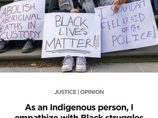 Black Lives Matter and Indigenous Lives are Sacred: New writing