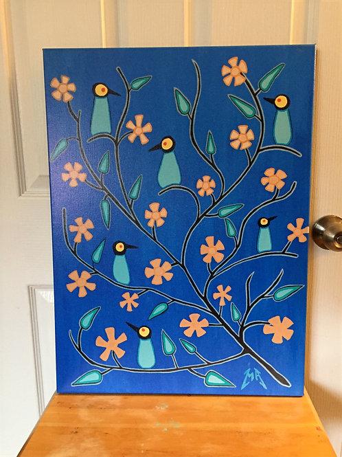"""Florals 18x24"""" print"""