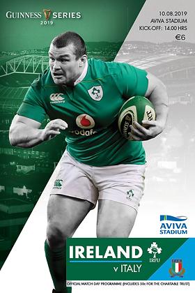 Ireland v Italy Guinness series 2019