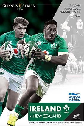 Ireland v New Zealand 2018 Guinness Series