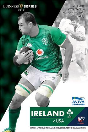 Ireland v USA 2018 Guinness Series