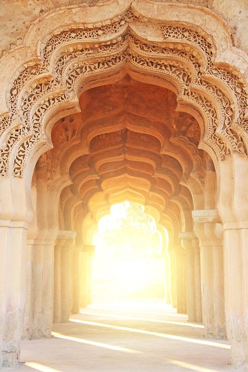 Lotus Mahal Temple in Hampi, Karnataka,