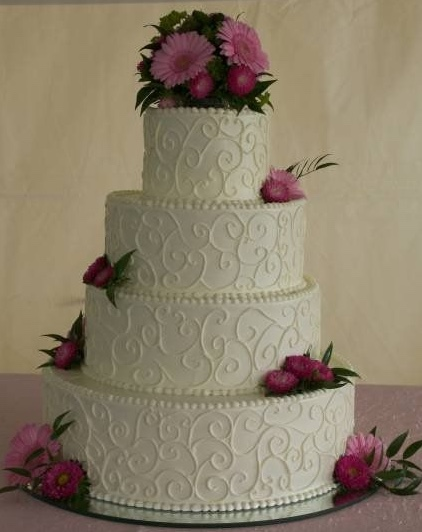Wedding Cake - scroll work 2