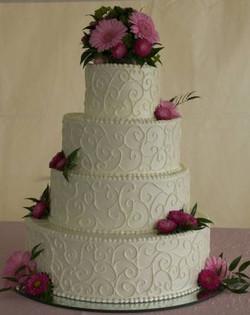 Wedding Cake - scroll work 2