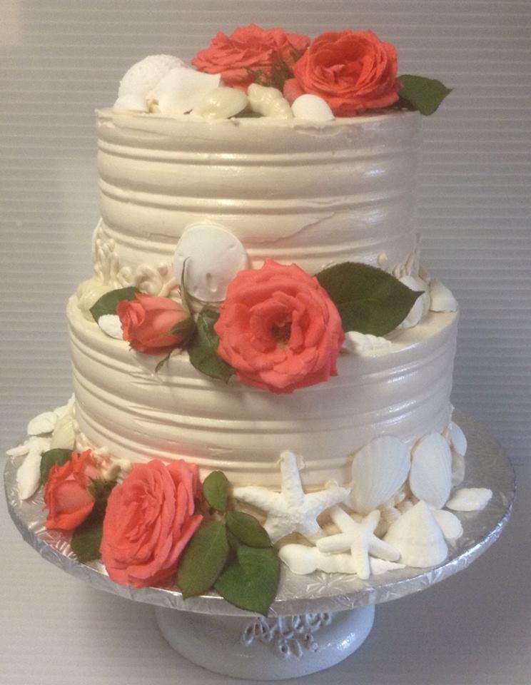Wedding Cake - Roses