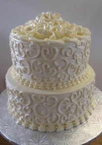 Wedding Cake - scroll work