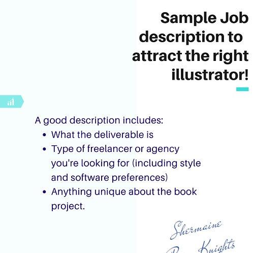 Sample Job Description to Find An Illustration