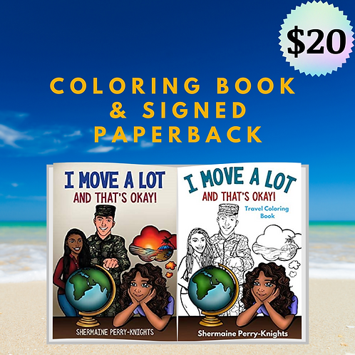 Coloring and Signed Paperback Book