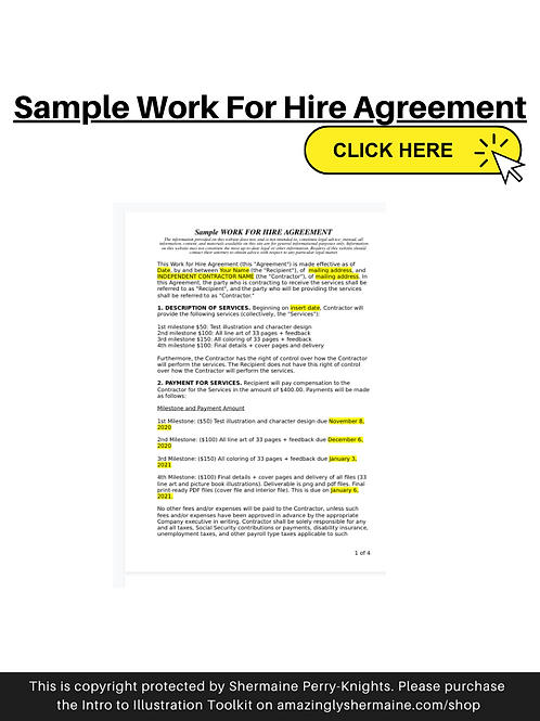 Sample Work for Hire Contract