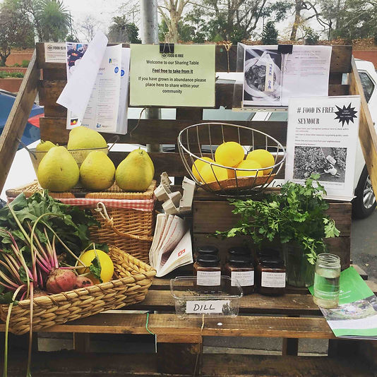 Bring your homegrown produce to place on our sharing table in Station Street (opposite the post office) to share with your community. Feel free to share other resources eg, growing guides, seeds, seedling tips etc.