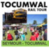 """Join us on our Heritage Train tour to the Tocumwal Foreshore Markets travelling the """"freight only"""" line. Breakfast in the historic Seymour Railway dining room is included for all Seymour passengers. Also available is a coach transfer to Cobram town area or a Winery tour to Monichino winery for lunch and wine tastings."""
