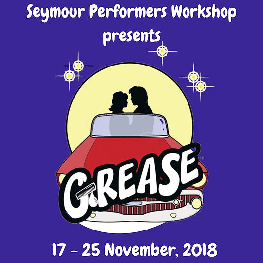 """Seymour Performers Workshop is excited to announce the musical production for 2018 will be Grease! Since its electric Broadway and West End debut in the early 1970's, Grease has remained one of the world's most popular and enduring musicals. Funny, frank and featuring the hit songs """"Greased Lightning,"""" """"You're The One That I Want,"""" and """"Summer Nights"""", Grease follows the journey of Danny and Sandy, alongside the T-Birds and the Pink Ladies, as they navigate high school to the unforgettable rock n' roll soundtrack that defined generations."""