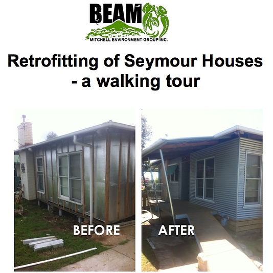 Walk around Seymour Streets looking at a handful of houses that have had Retrofits to improve comfort and energy performance.  Discuss the challenges.  What are the options?  Share some insights.  What are our experiences? This is NOT a Grand Designs tour.