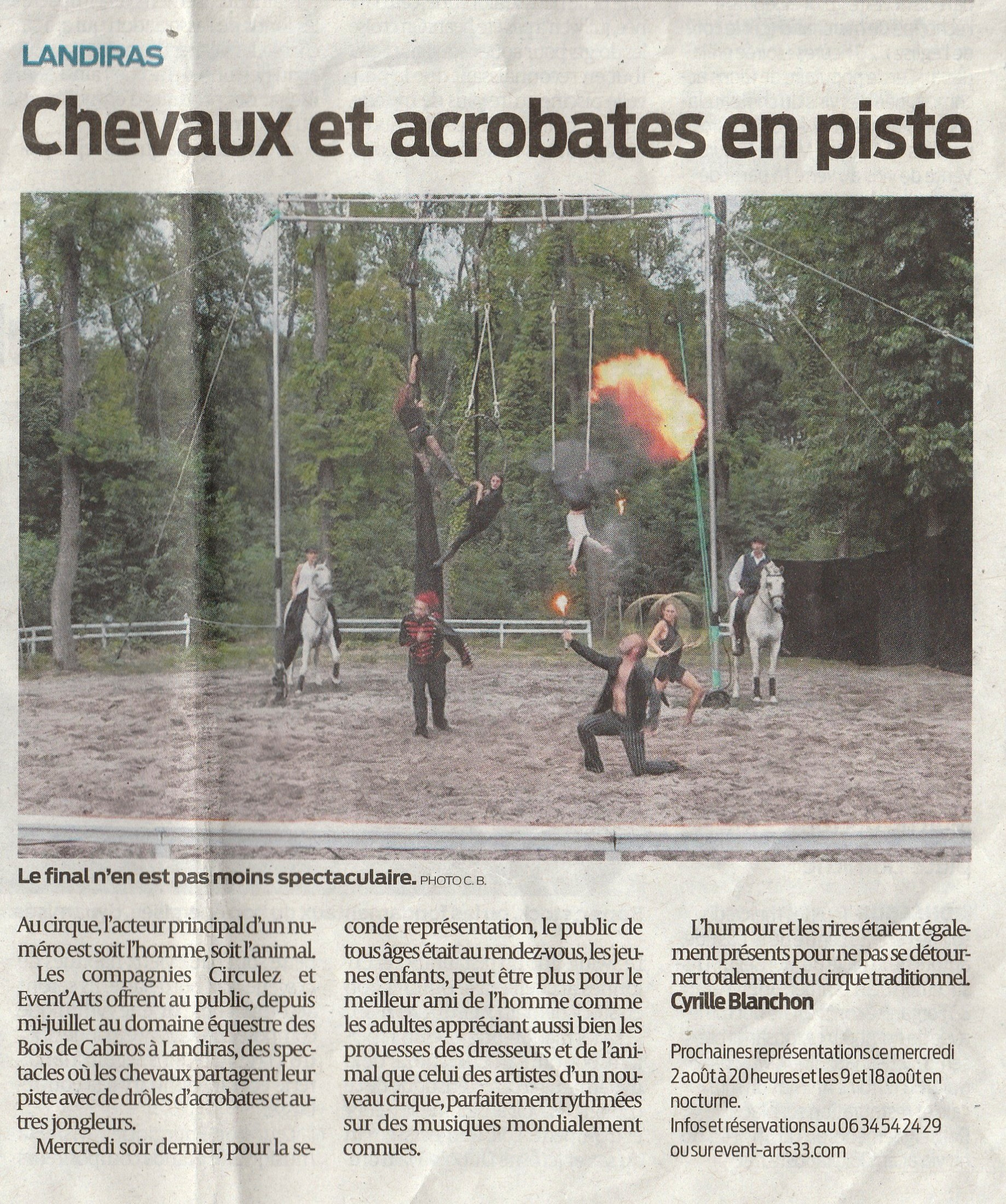 Article Sud Ouest 31-7-17