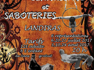 """Affiche du Spectacle """"Cirkussage et Saboteries"""", 6 dates cet été en Gironde"""