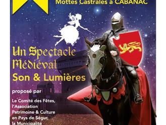 Spectacle Son et Lumière historique, thème XIIe siecle, Mottes castrales de Cabanac (Gironde)