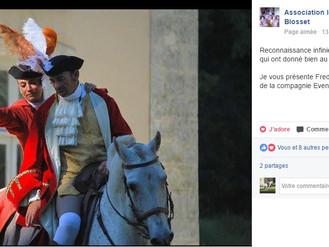 Reconnaissance des propriétaires et organisateur du spectacle historique XVIIIe, Château de Blosset