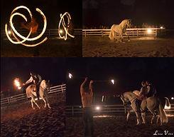 spectacle equestre feu