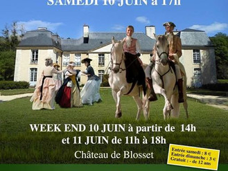 Spectacle historique sur mesure pour le Chateau de Blosset (Sologne)