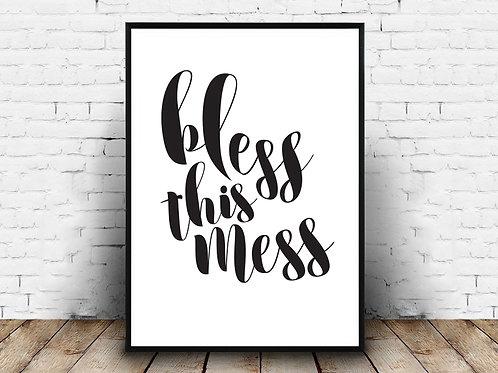 Poster za uređenje interijera BLESS THIS MESS