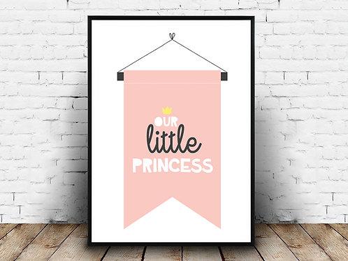 Ilustrirani poster LITTLE PRINCESS