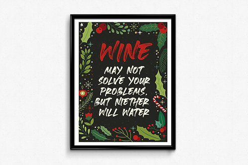 Prigodni poster Božić 2020  Wine