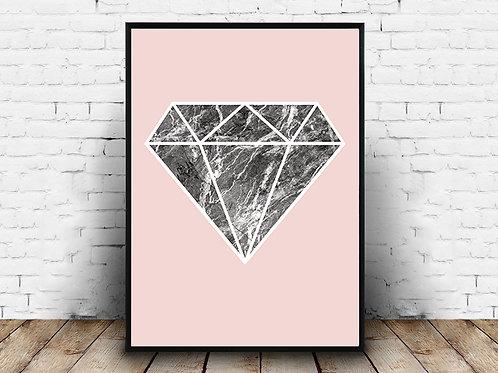 Poster za uređenje interijera DIAMOND