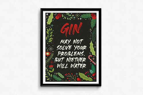 Prigodni poster Božić 2020 Gin2