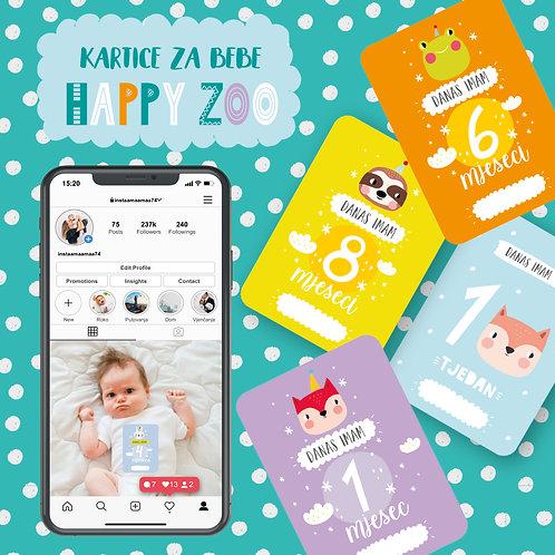 Kartice za bebe HAPPY ZOO