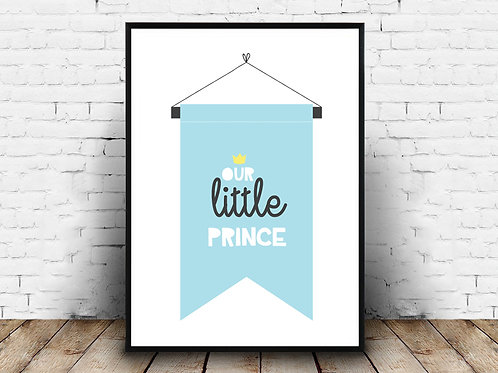Ilustrirani poster LITTLE PRINCE BLUE