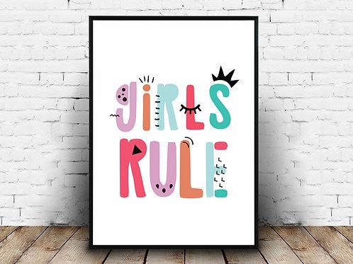 Ilustrirani poster GIRLS