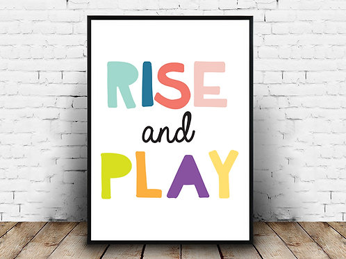Ilustrirani poster RISE AND PLAY