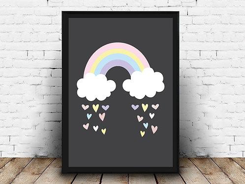 Ilustrirani poster RAINBOW