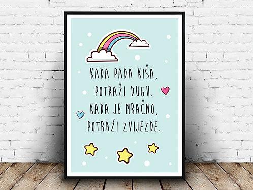 Ilustrirani poster KADA PADA KIŠA...