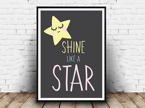Ilustrirani poster SHINE LIKE A STAR