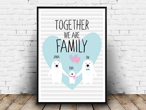 Poster s imenom/podacima FAMILY