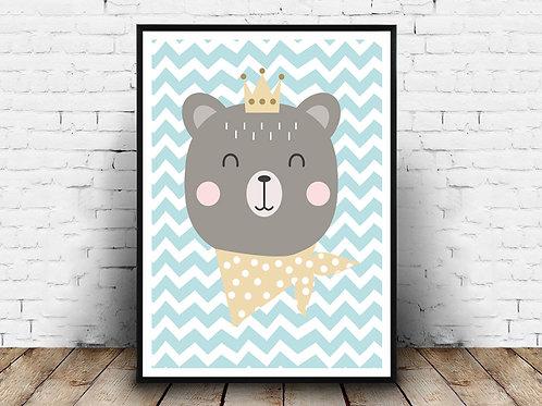 Ilustrirani poster OH BABY BEAR