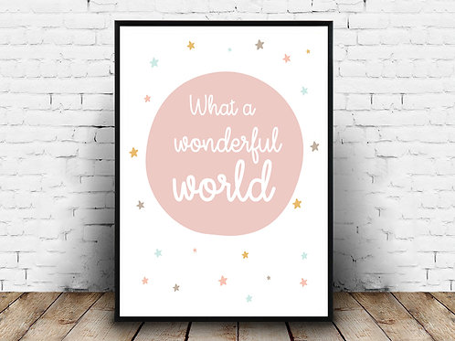 Ilustrirani poster WONDERFUL WORLD LIGHT