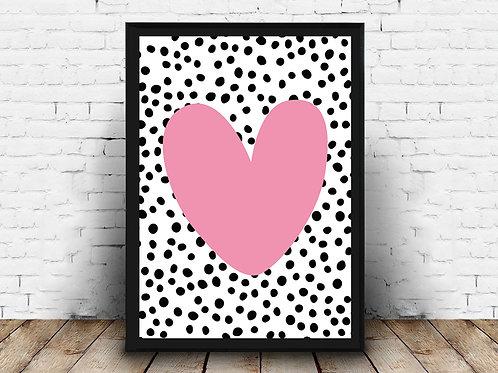 Ilustrirani poster HEART&DOTS