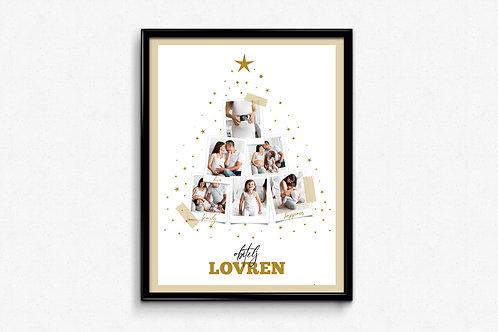 Personliziarni poster PHOTO TREE gold