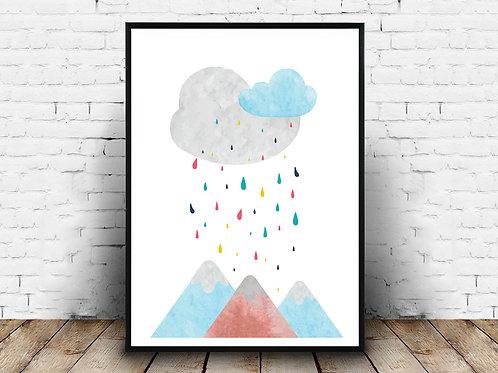 Ilustrirani poster MOUNTAINS