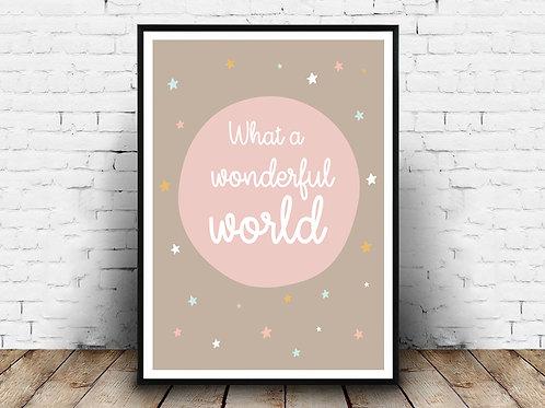 Ilustrirani poster WONDERFUL WORLD