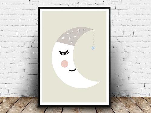 Ilustrirani poster MOON