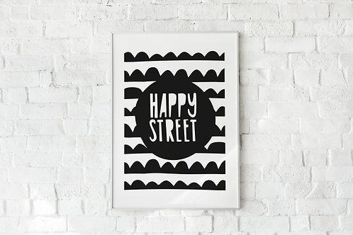 Ilustrirani poster HAPPY STREET